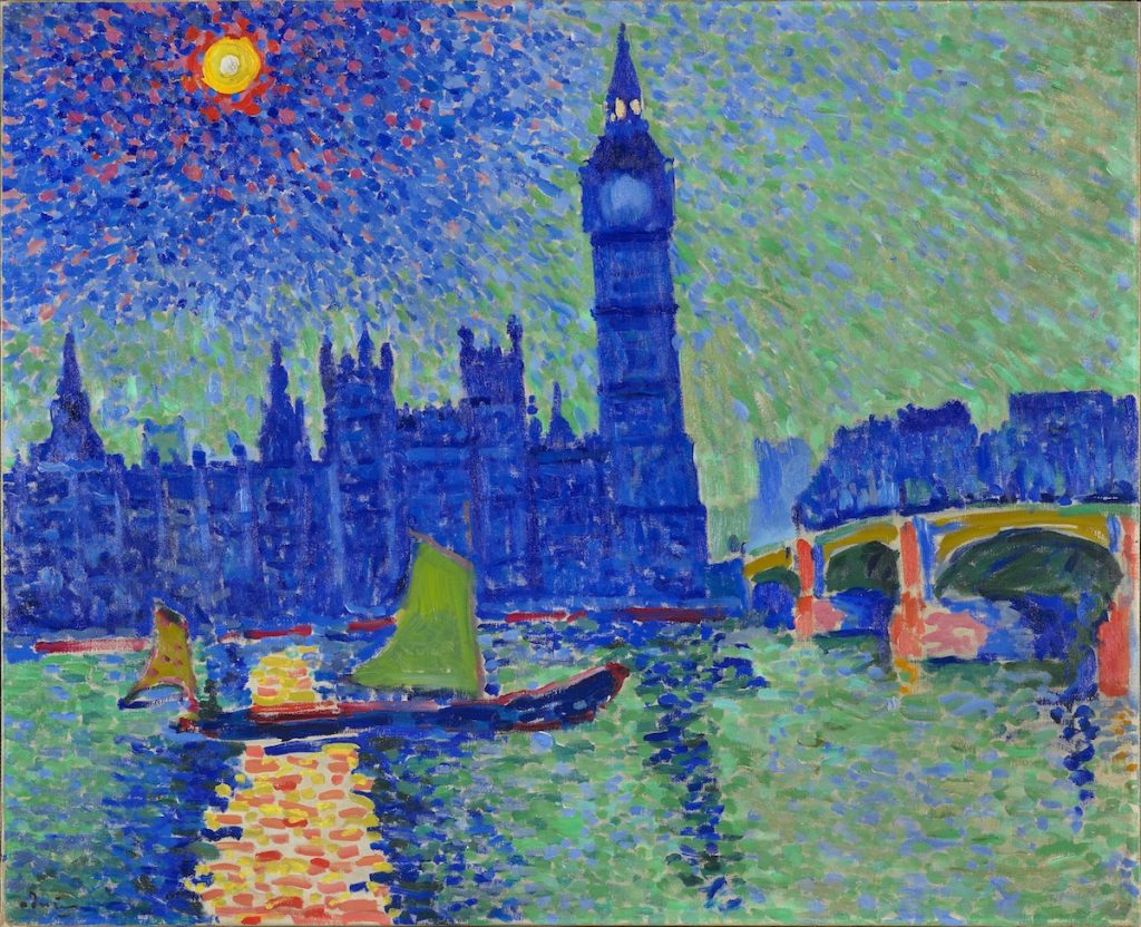 Big Ben, London - Painting by Andre Derain - Fauvism Paintings