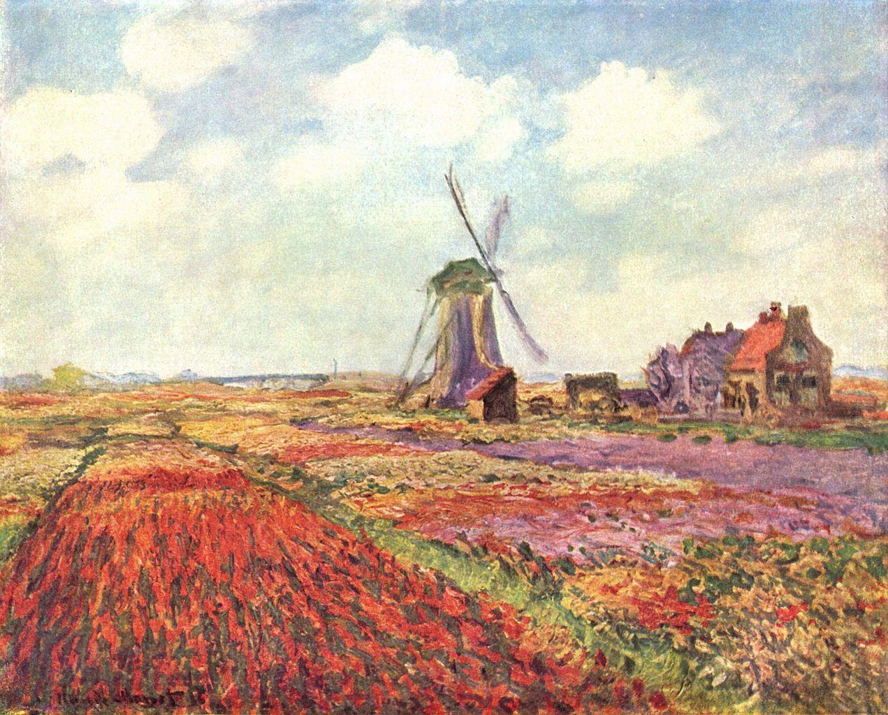Claude Monet - Tulip fields Jigsaw Puzzle