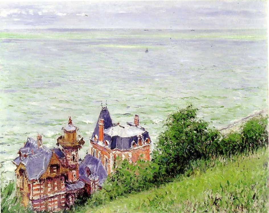 Trouville painted by Gustave Caillebotte