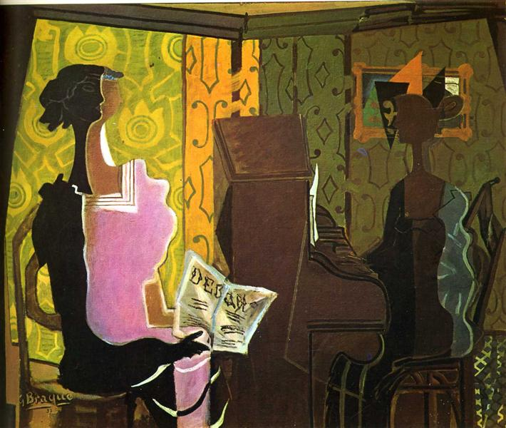 Georges Braque Paintings - The Duet