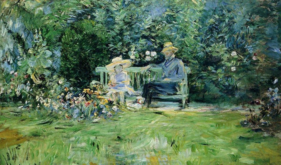 The Lesson in the Garden - Berthe Morisot Painting