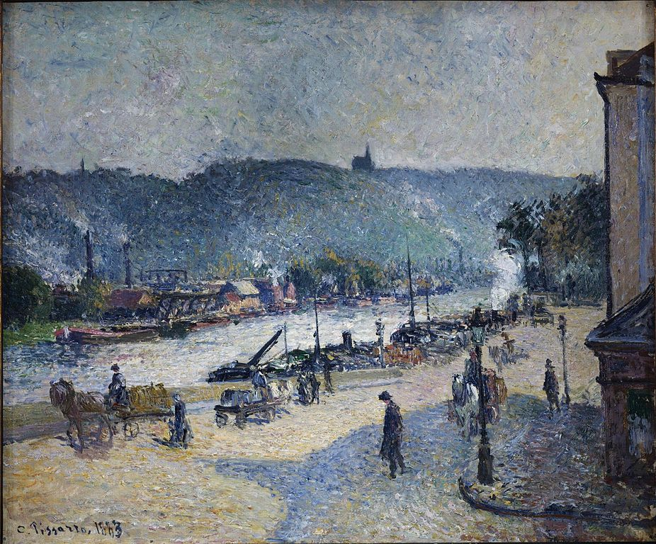 Rouen  - River Seine Painting by Camille Pissarro
