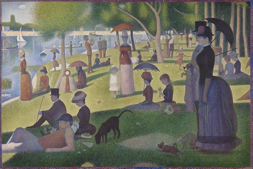 Georges Seurat Painting entitled: Sunday on La Grande Jatte