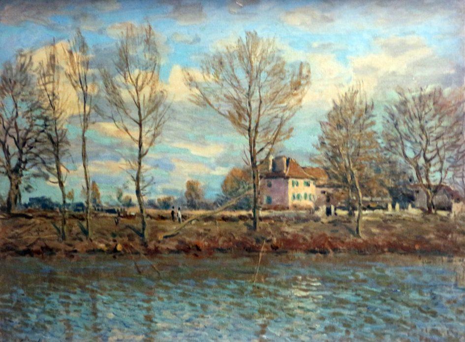 Alfred Sisley painting - The Island of Grande Jatte