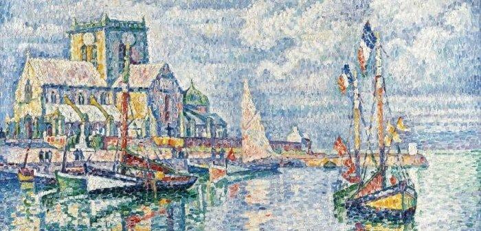Barfleur, Normandy - Painting by Paul Signac - Pointillism Art