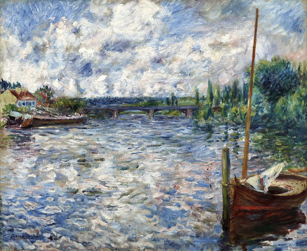 The Seine at Chatou - Auguste Renoir Painting