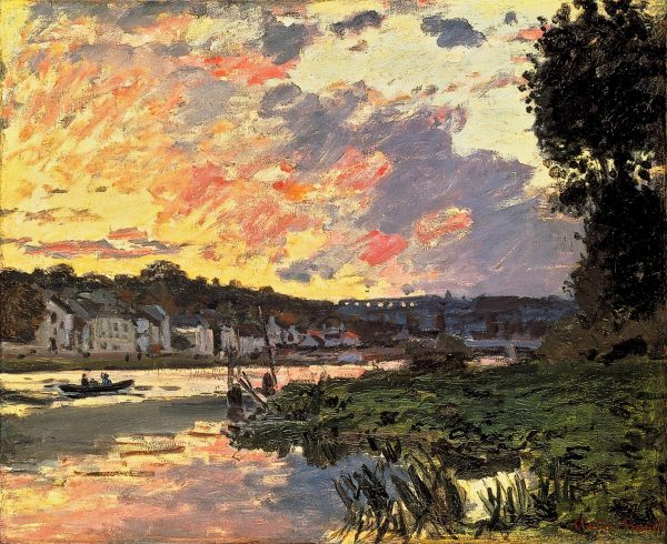 Claude Monet Landscape- Seine River in Bougival