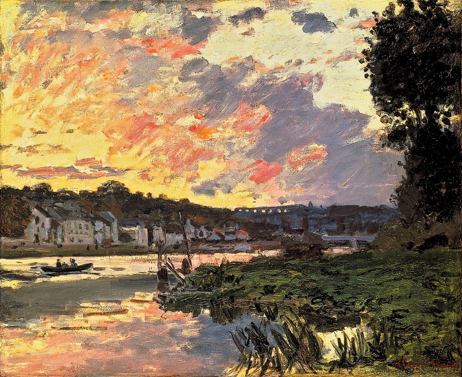 Claude Monet Landscape- Seine River in Bougival