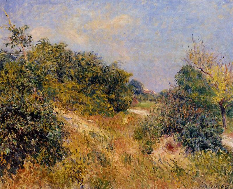 French landscape -Alfred Sisley - Fontainebleau Forest