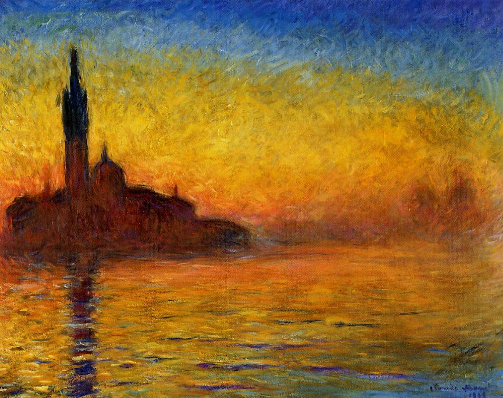 Venice landscape -One of Monet's most famous paintings