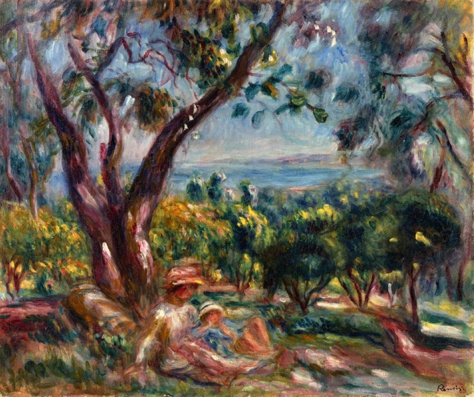 Auguste Renoir paintings -  Views of the sea  from his garden