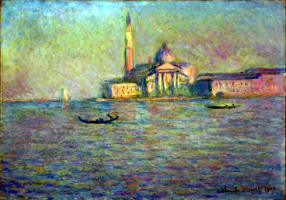 Church of San Giorgio Maggiore -Venice  Landscapes - Claude Monet painting