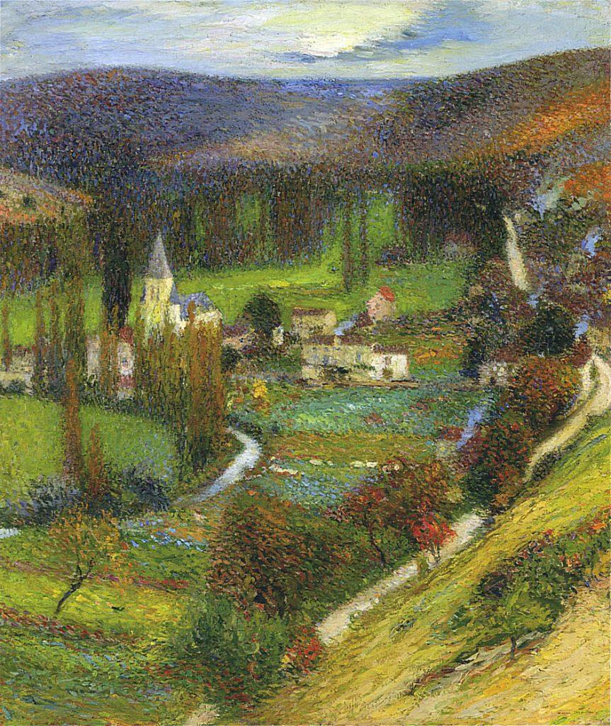 Landscape painting by Henri Martin