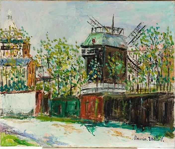 Moulin de la Galette / Maurice Utrillo Painting