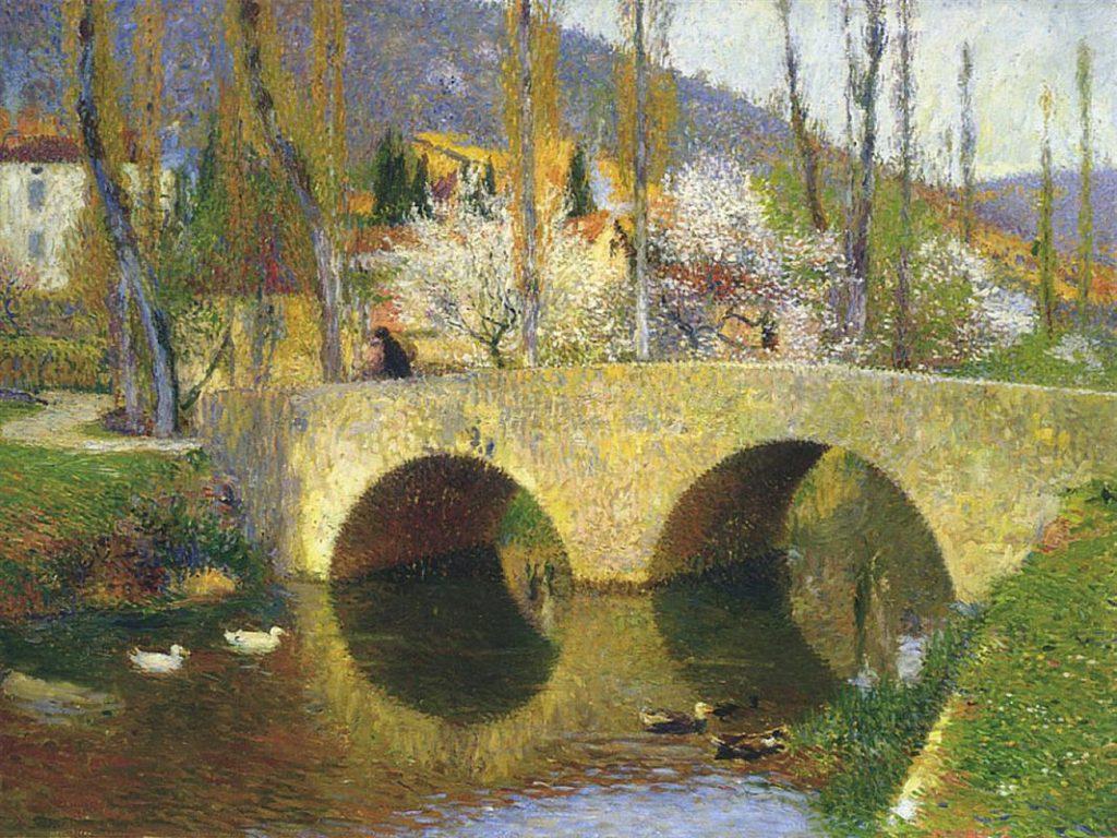 The Bridge at Labastide du Vert - Henri Martin Painting