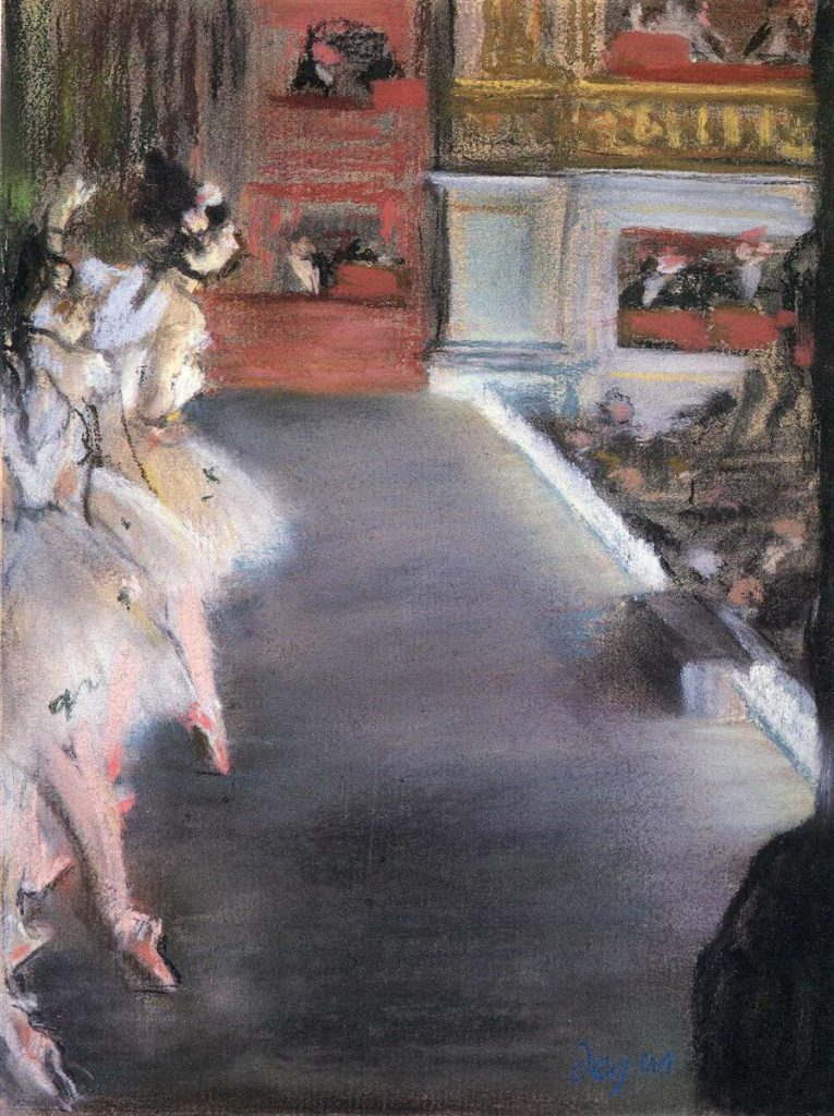 Ballet Dancers on stage at the Paris Opera - Edgar Degas Pastel