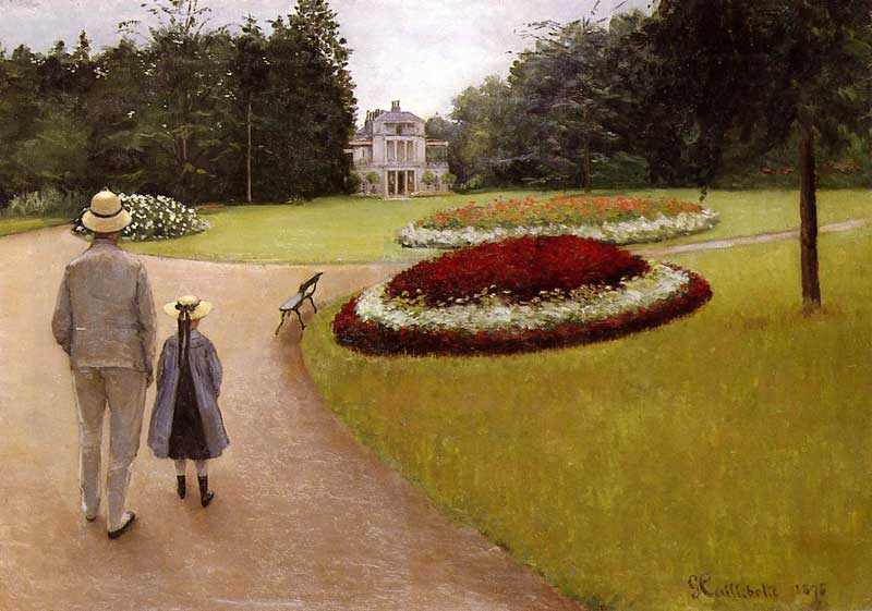 Yerres Estate - Gustave Caillebotte Painting