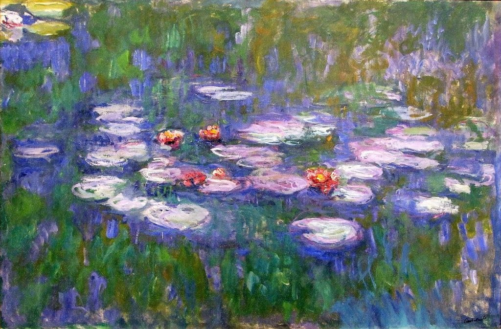 Water Lily Pond-Claude Monet Painting [Public Domain]