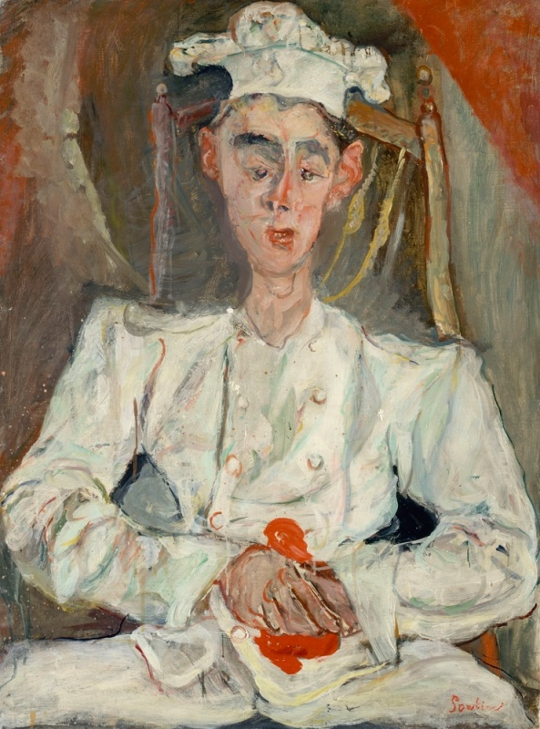The Pastry Chef / Le_Petit_Pâtissier - Soutine painting
