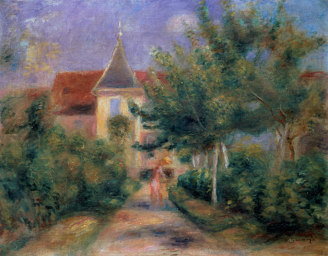 Pierre-Auguste Renoir painting of his house in Essoyes
