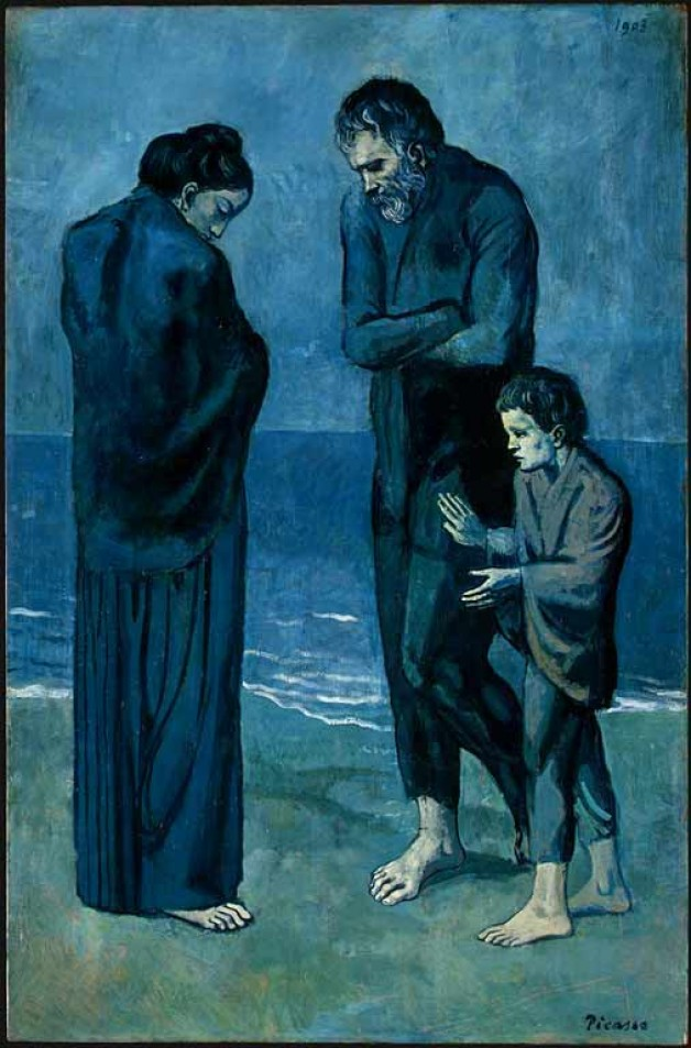 Pablo Picasso famous artworks - The Tragedy from the Blue Period