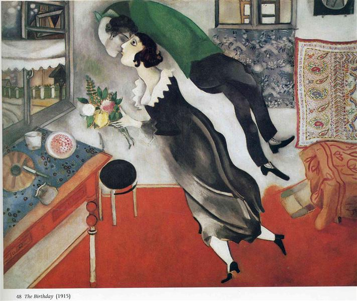 The Birthday - Marc Chagall Painting, 1915