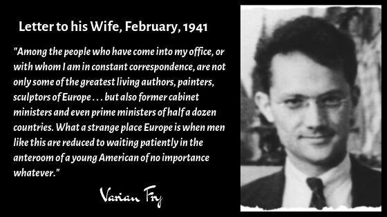 Varian Fry Letter to His Wife Ellen Written in 1941