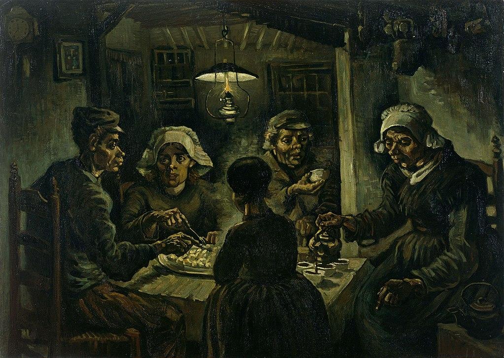 The Potato Eaters - Van Gogh Painting at the Kroller Muller Art Museum