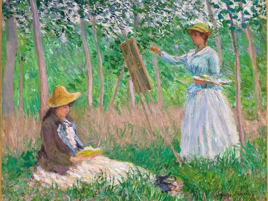 A Scene of Plein air painting