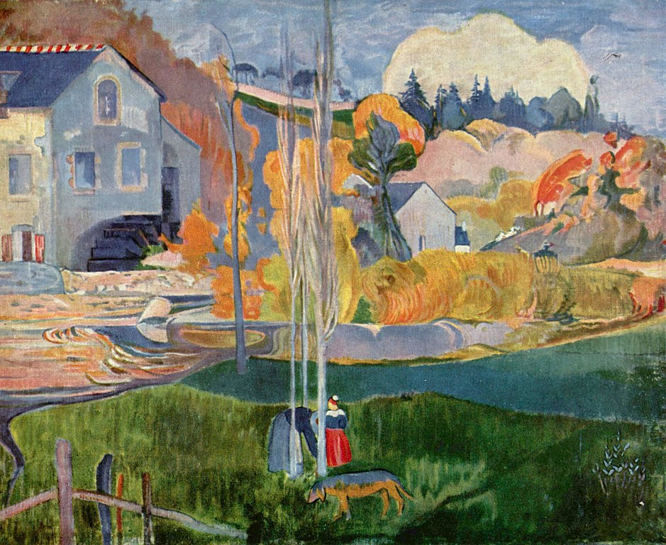 Paul Gauguin Painting of Pont Aven