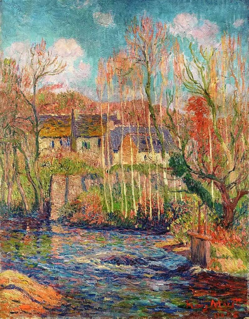 Spring in Pont Aven - Henri Moret Landscape