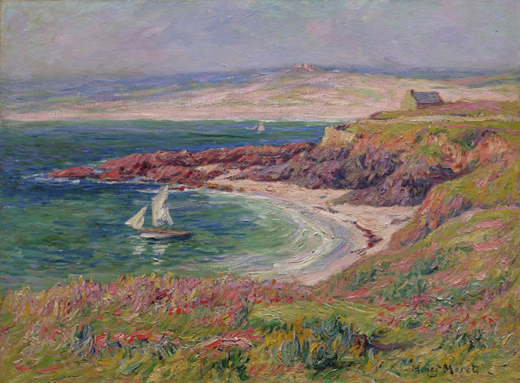 The Bay of Trouville - Henri Moret painting