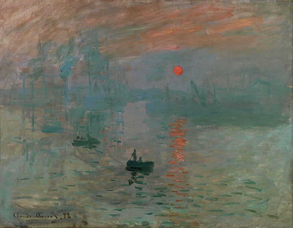 Impressionism, Sunrise - Most famous Claude Monet Painting