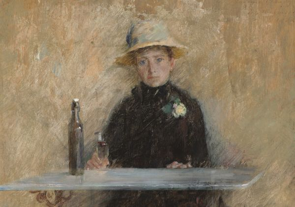 Portrait of Madame Baudy - Theodore Robinson painting