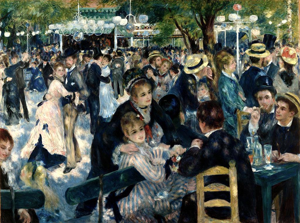 Renoir's painting at the Musee D'Orsay Paris