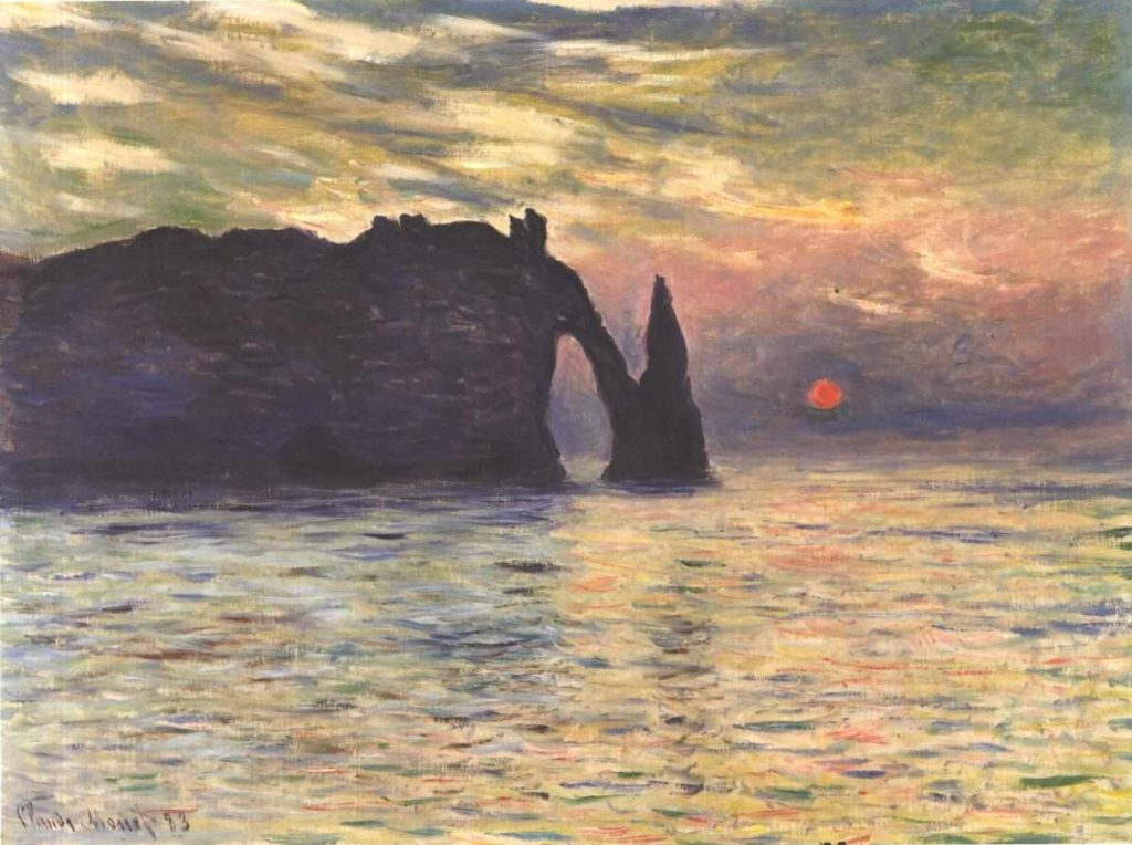 Claude Monet famous impressionism artworks of Etretat in Normandy