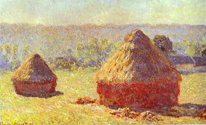 Claude Monet Haystacks Painting