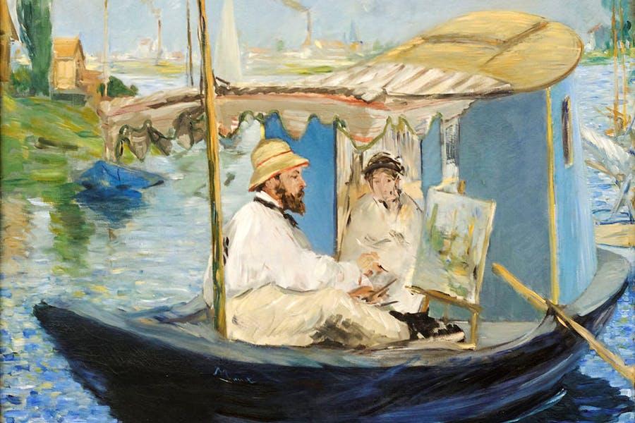 Le Bateau Atelier -  Edouard Manet painting