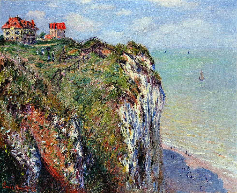 Cliffs at Dieppe -  Claude Monet Painting