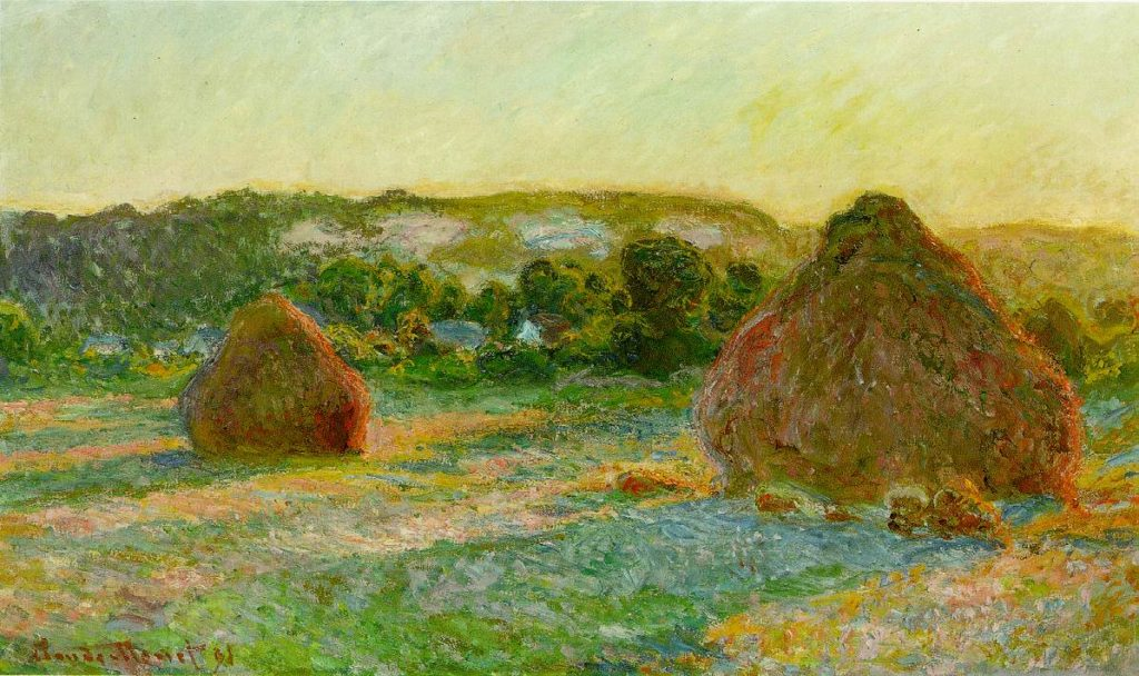 Claude Monet Series called Haystacks