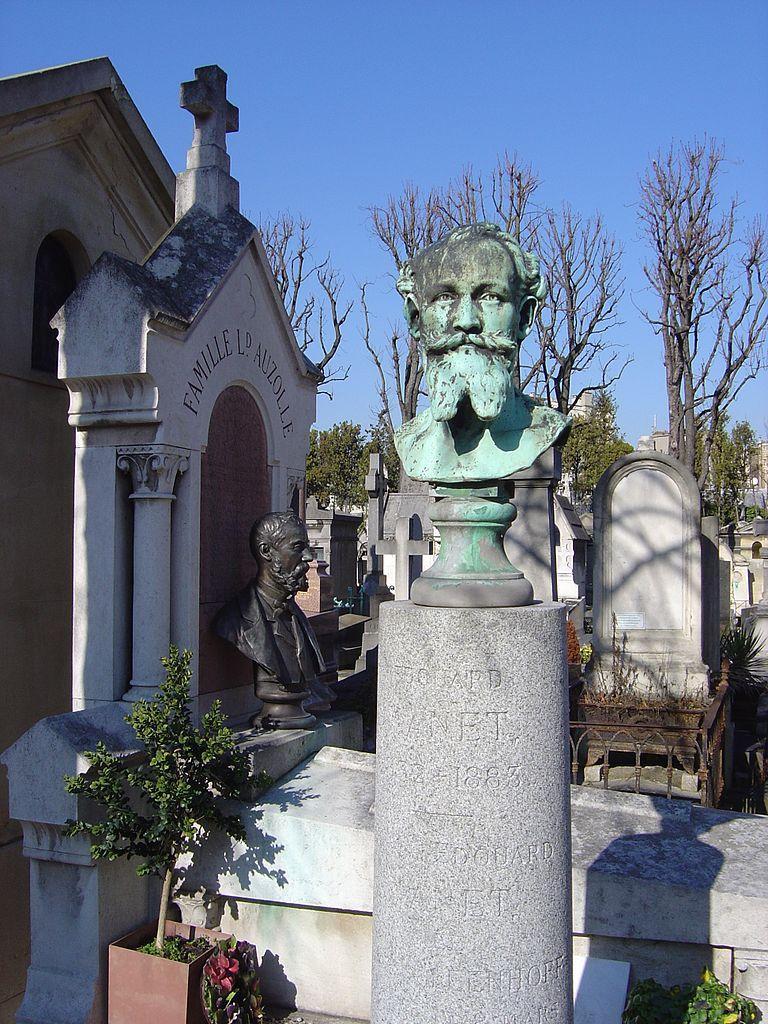 Edouard Manet's Grave at Passy Cemetery Paris