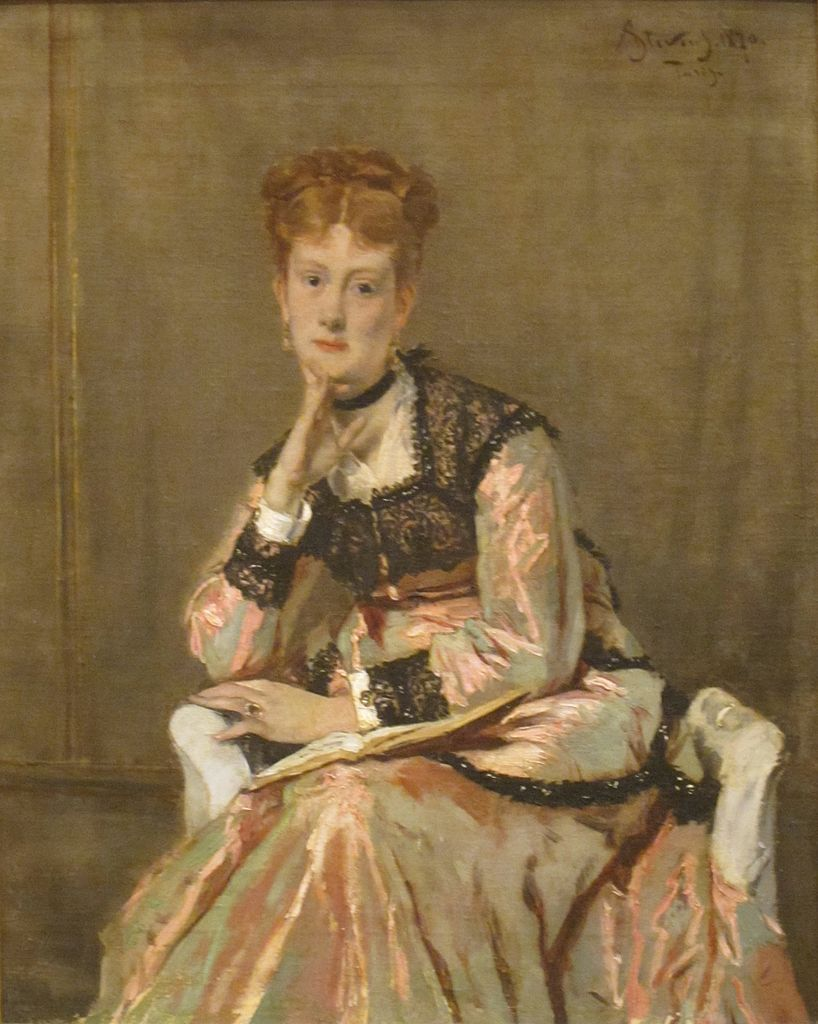 Alfred Stevens Painting - The Parisian Sphinx - Victorine Meurent is the model