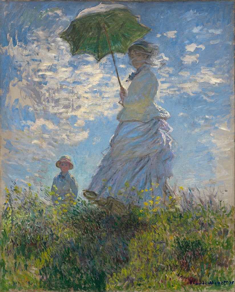 Woman with a Parasol - A famous Monet Painting