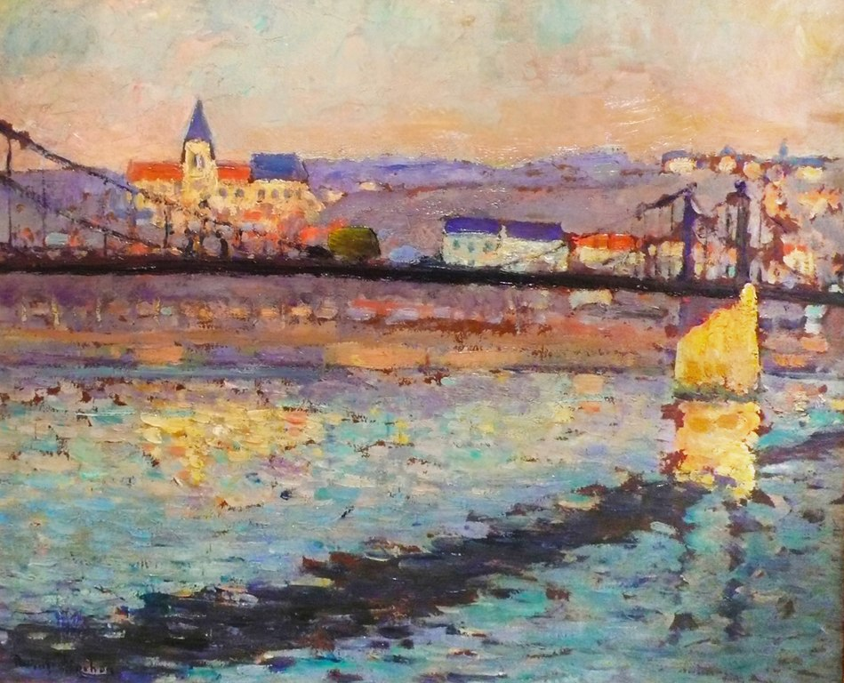 Robert Pinchon Painting 1904 of the River Seine in
