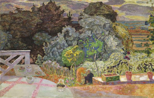 "Pierre Bonnard Painting of his garden ""Terrace"""