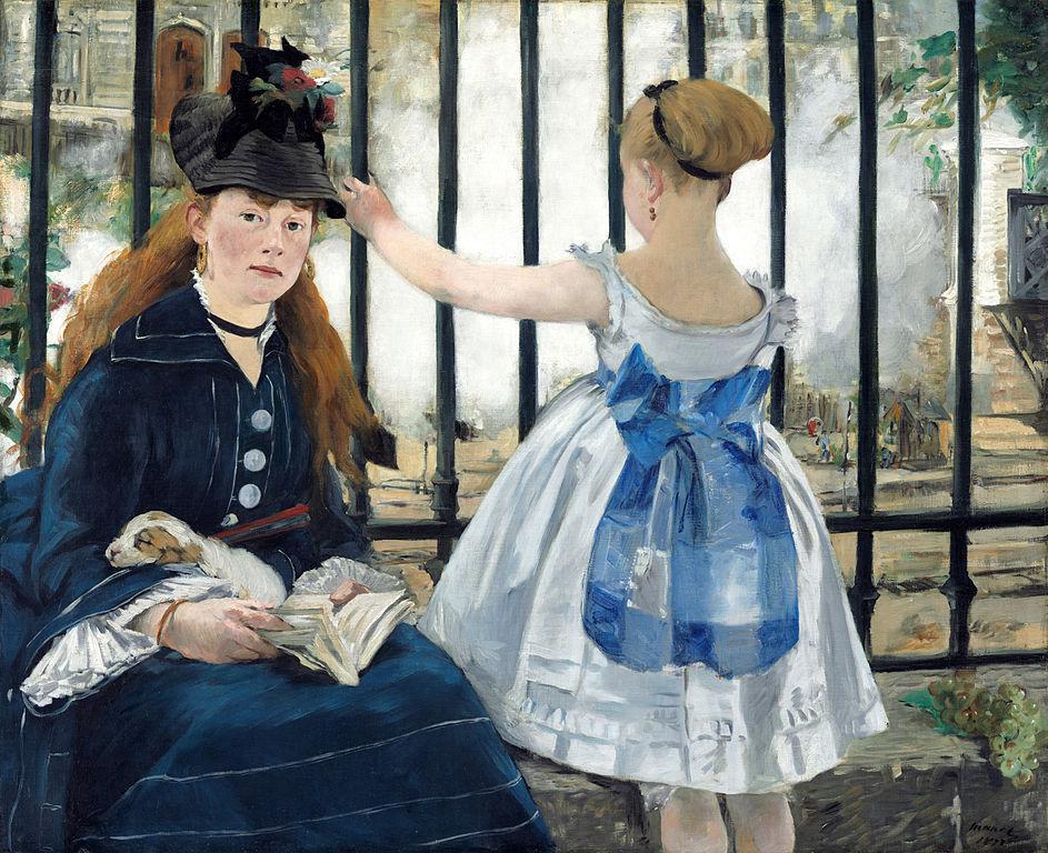 Edouard Manet, The Railway - Victorine Meurent is the model