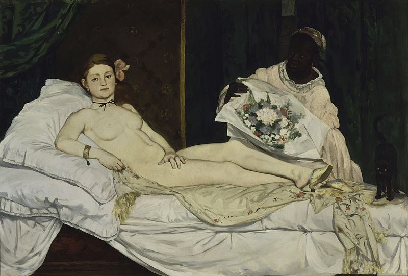 Olympia - one of the most famous Edouard Manet paintings