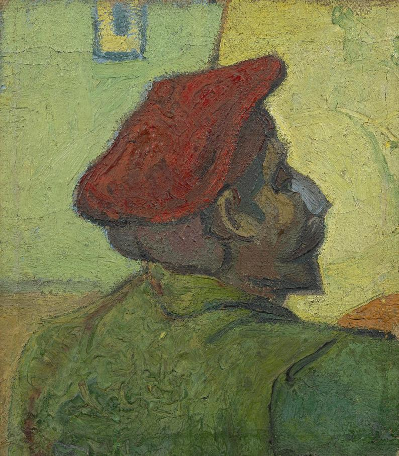Vincent Van Gogh Portrait of Paul Gauguin (painted in Arles, 1888)