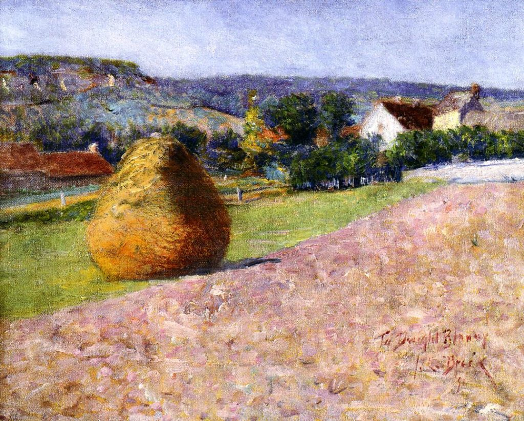 John Leslie Breck painting influenced by the French Impressionists