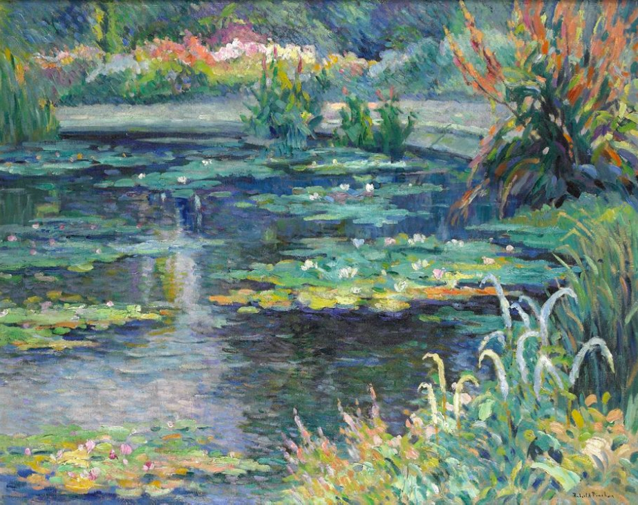 Robert Antoine Pinchon Painting - Water-Lilies